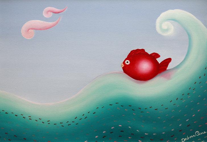 Pesce-rosso-formato-20x30-olio-su-telanumero-5
