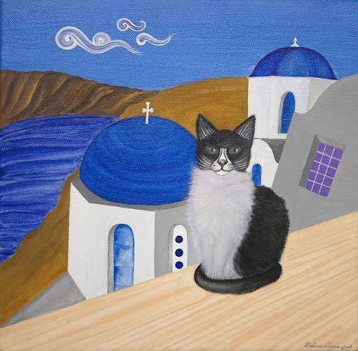 gatto-greco_acrilico-su-tela-30x30-venduto
