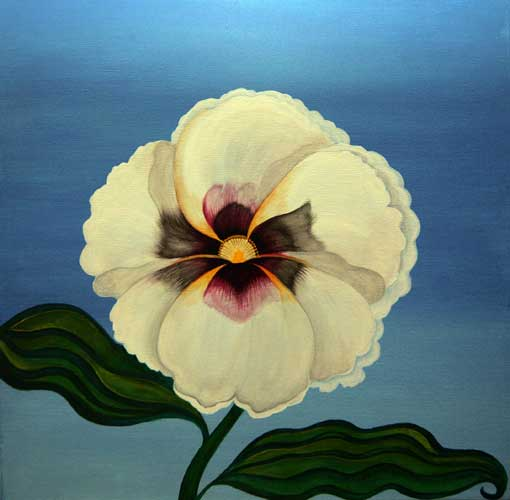 papavero-bianco_50x50_olio-su-tela_venduto_2008