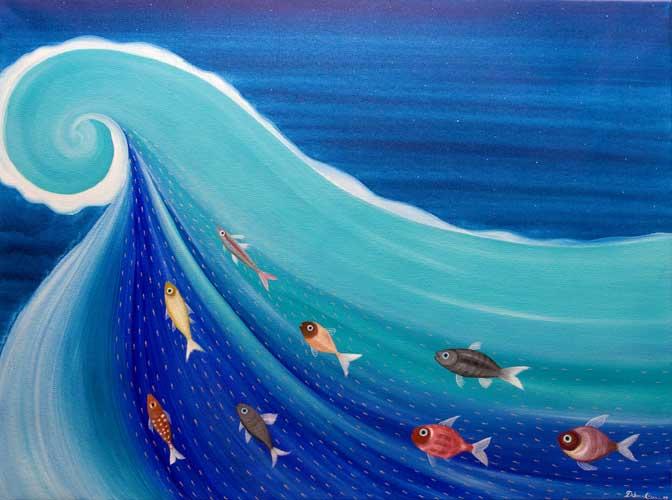 pesci-acrilicosutela-50x70